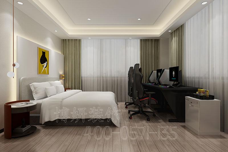 大气又温馨的电竞酒店装修案例