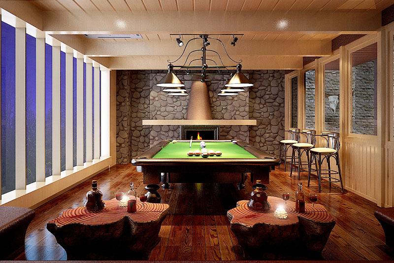 杭州桌球室装修设计案例
