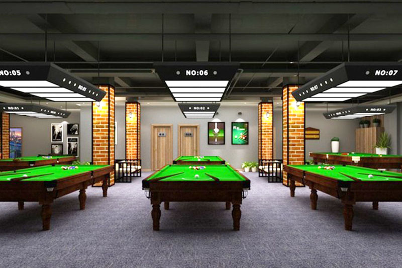 杭州桌球厅装修设计效果图