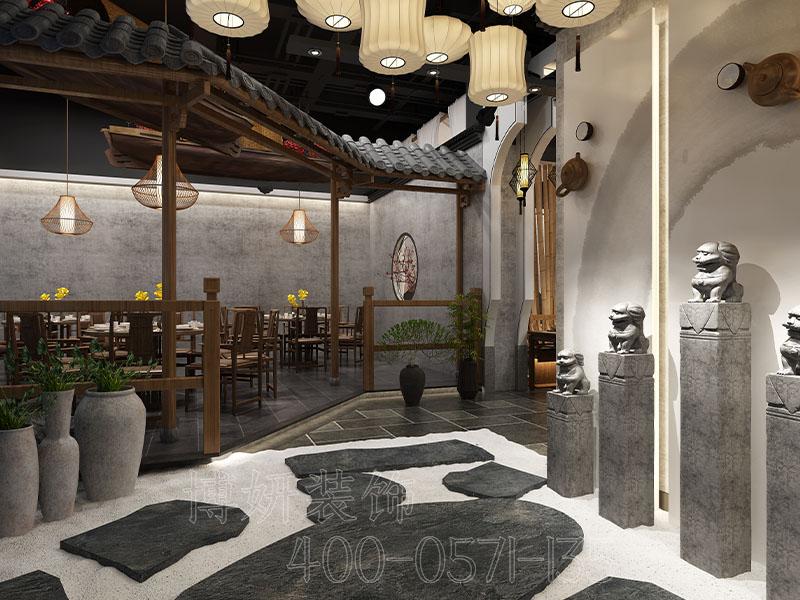 杭州中式餐厅装修,杭州餐厅装修,杭州工装软装设计公司,杭州装修公司,中式餐厅装修设计