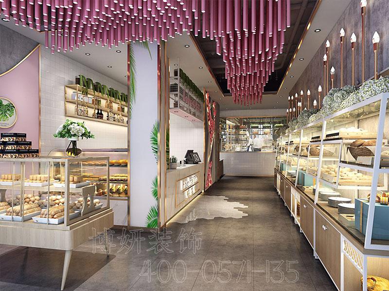 粉粉的少女系网红甜品店设计装修案例