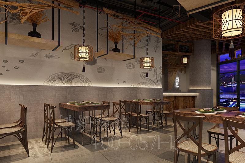 萧山150平方串串店装修设计案例