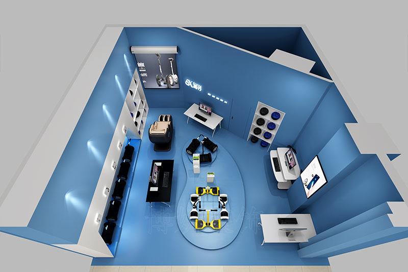 展厅装修,企业展厅装修,平衡车展厅装修设计