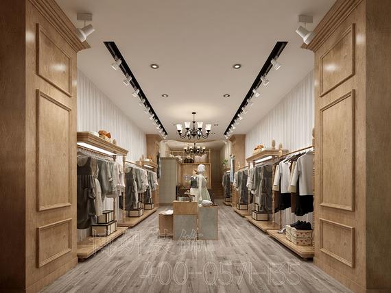 萬達廣場服裝店裝修設計案例