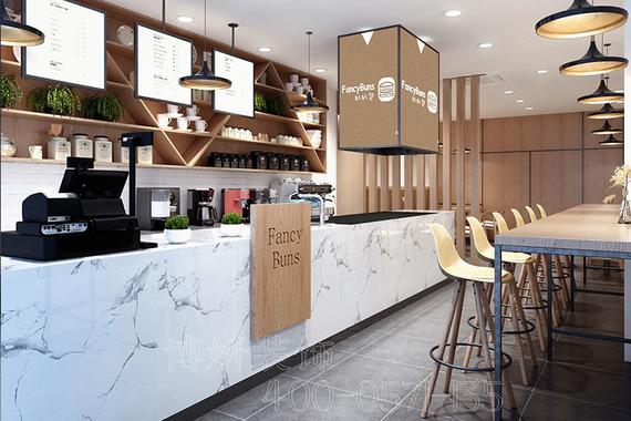 扒扒包漢堡店裝修設計案例