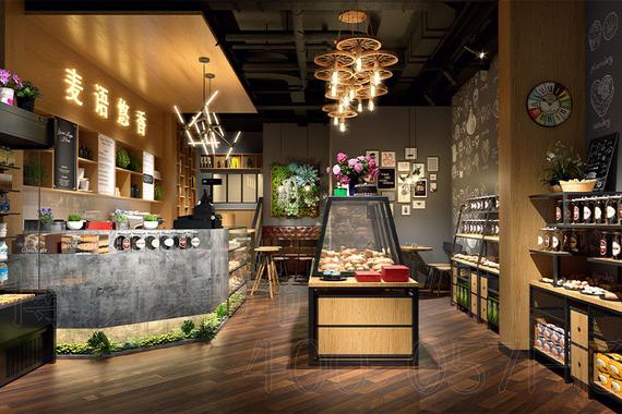 麥語悠香烘焙店裝修設計案例