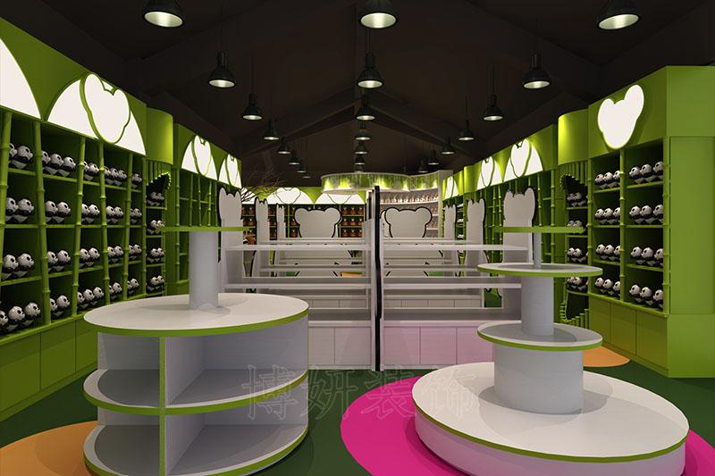 杭州野生动物园熊猫馆玩具店展厅装修设计案例