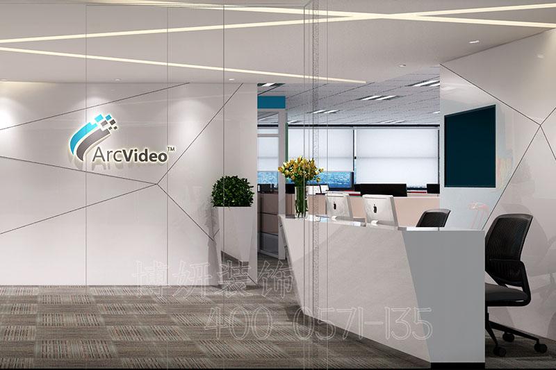 智能电子科技企业办公室装修设计案例