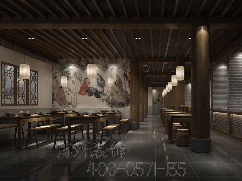 杭州200平方中餐廳裝修設計-專業中餐廳設計效果