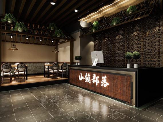 杭州余杭區300平方中餐廳裝修設計-專業中餐廳設計案例