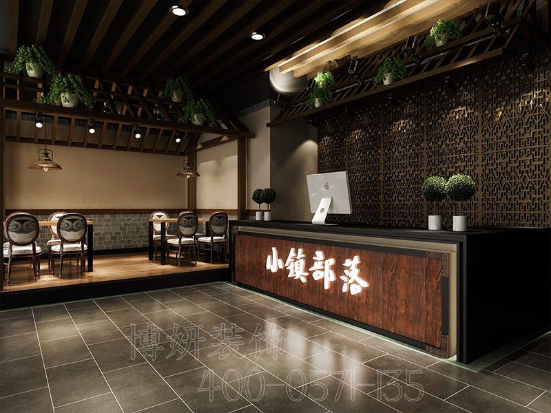 杭州余杭区300平方中餐厅装修设计-专业中餐厅设计案例
