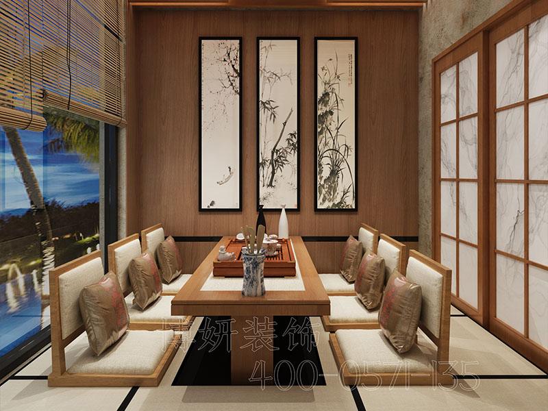 杭州临平日式料理餐厅装修设计-案例效果图