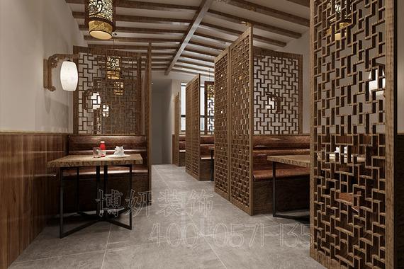 杭州中式火鍋店裝修設計-專業中式火鍋店案例