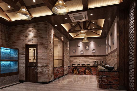 杭州中式風格企業食堂裝修設計-專業食堂效果圖