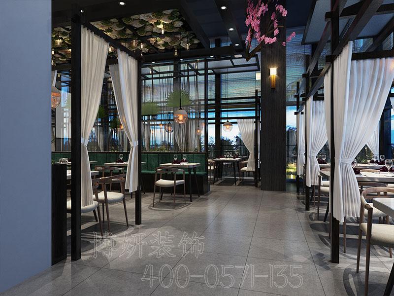 杭州极具自然风格高档餐厅设计装修-效果案例图