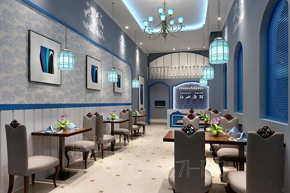 杭州海鲜主题餐厅装修设计-好口碑餐厅效果案例