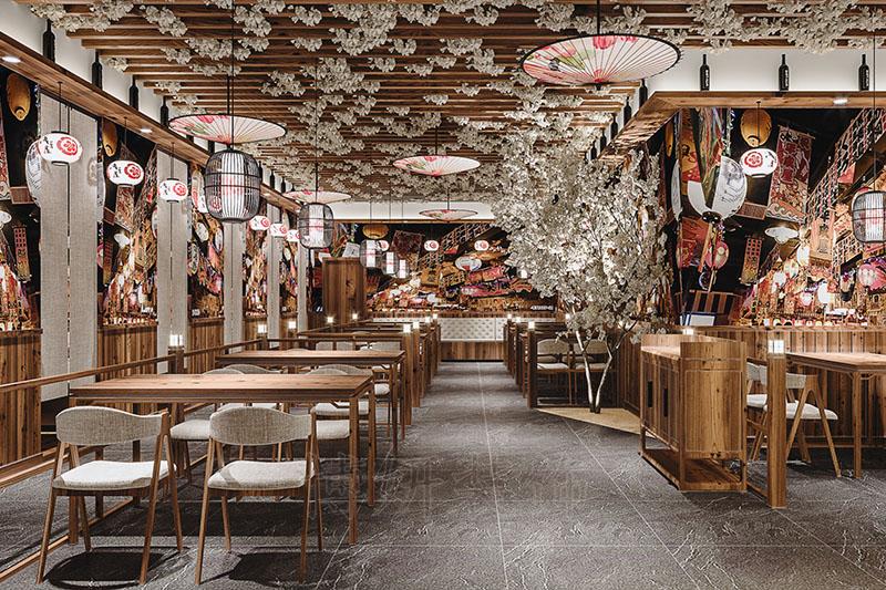 杭州日式料理店装修设计-好口碑日料店效果案例展示
