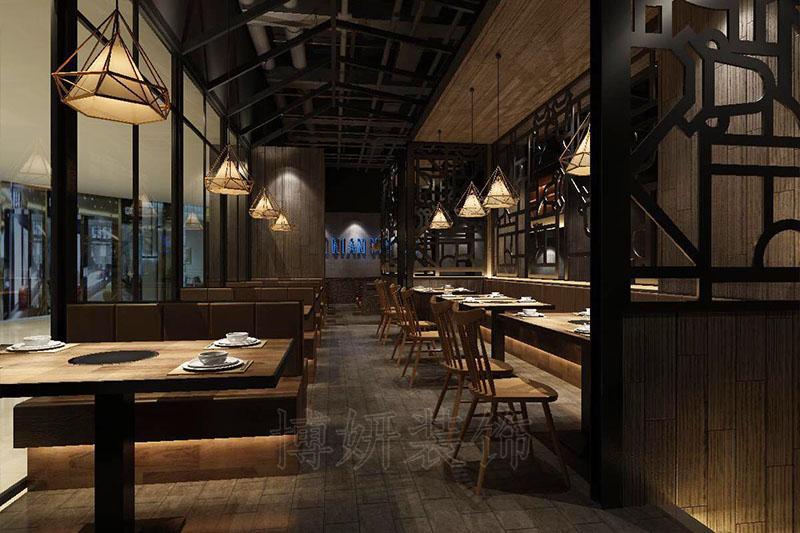 近江牛肉火鍋店裝修設計案例