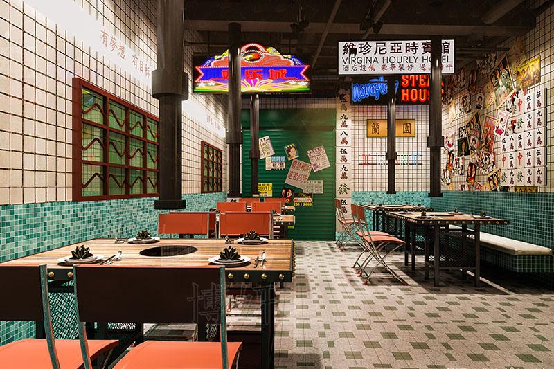 滨江网红烧烤店装修设计