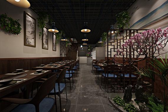 杭州新中式风格烧烤店装修设计