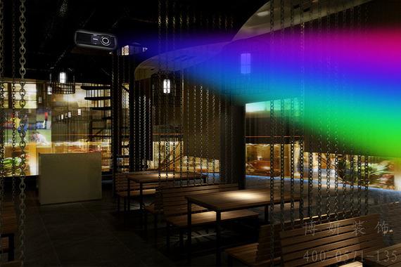 杭州暗夜主题烧烤店装修设计