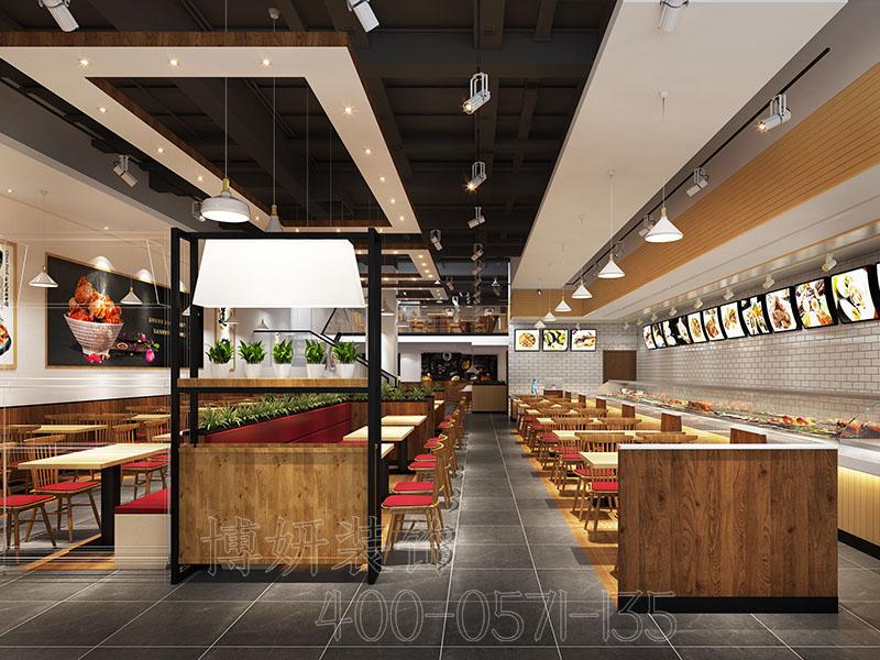200平方中式快餐店装修设计案例