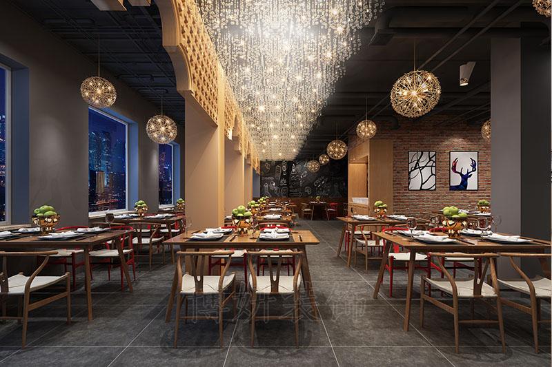 新疆菜馆设计装修案例