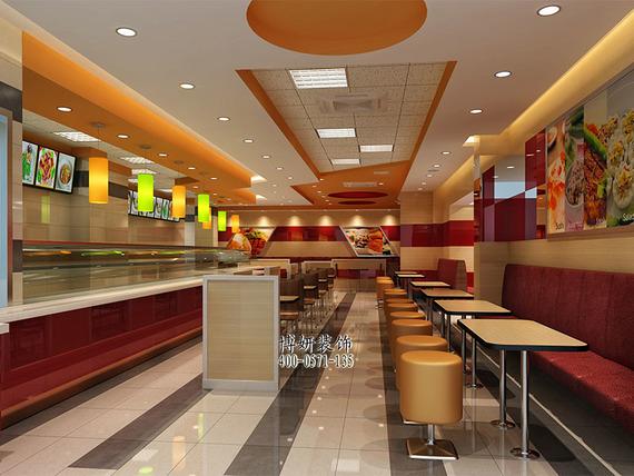 杭州悠百味快餐店裝修設計