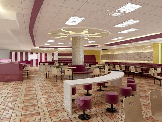 杭州鄰聚里快餐店裝修設計
