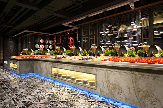 杭州自助餐廳裝修設計|高溫派對
