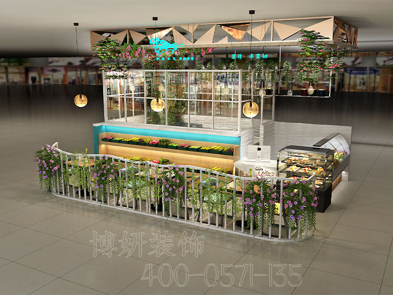 杭州沙拉店装修设计-专业沙拉店装潢案例