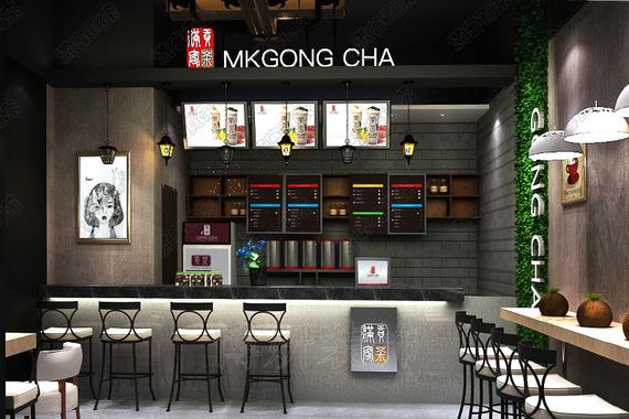 滿客貢茶茶飲店裝修設計案例