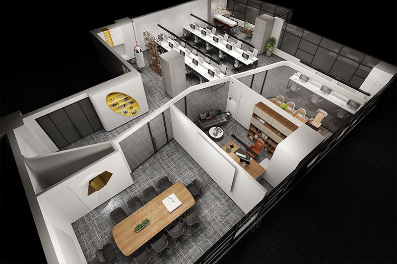 杭州西湖区办公室装修设计案例