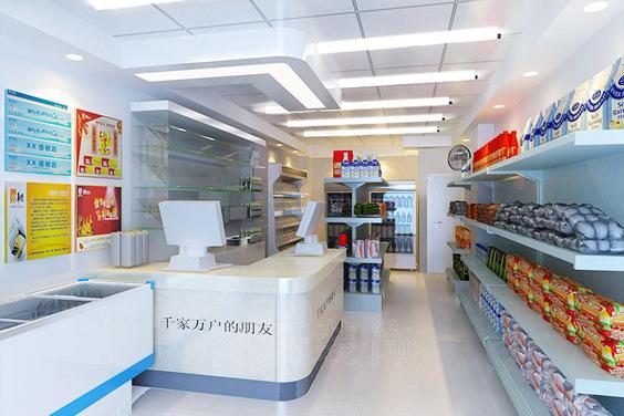 杭州超市装修设计案例|武林路超市
