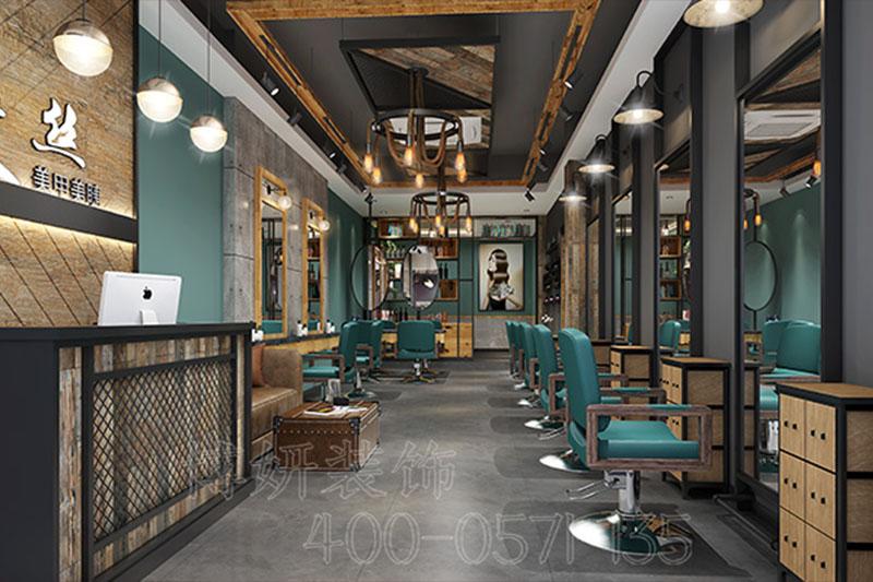 杭州理發店裝修設計案例|艾絲
