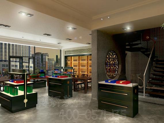 杭州中式茶叶店装修设计