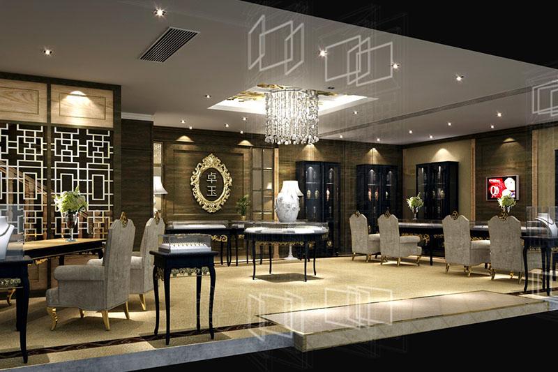 杭州高端珠宝店装修设计|卓玉