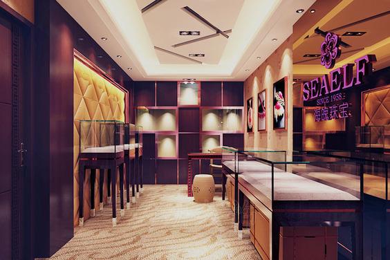 一家面積不是很大的精品珠寶店裝修設計