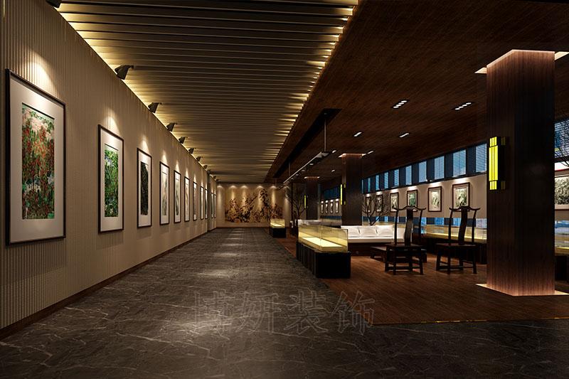 高端私人会所设计案例|学问展厅装修设计