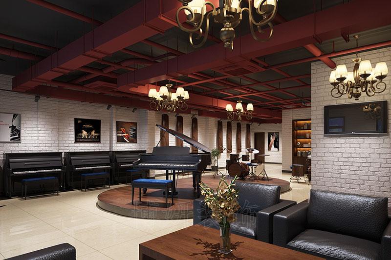 老余杭琴行乐器展厅装修案例