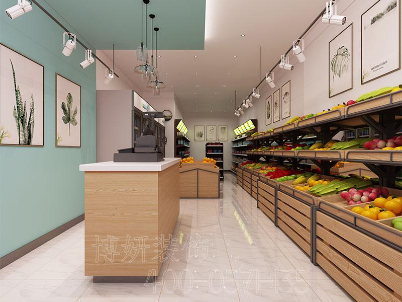 杭州小面积水果店装修设计