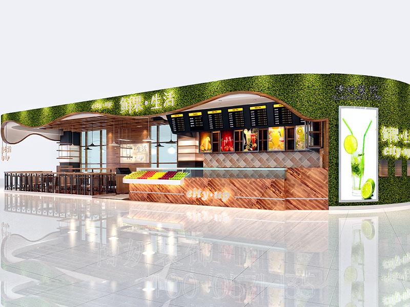 杭州鲜果店装修设计