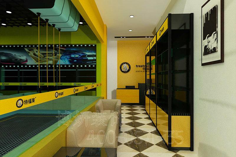 杭州洗车店装修设计,汽车养护中心装修