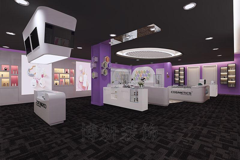 杭州化妆品直播间装修设计案例