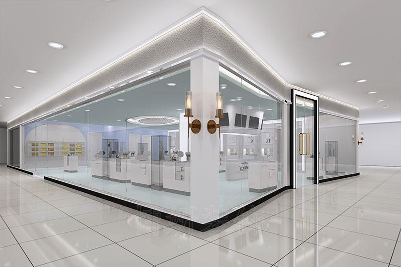 杭州化妆品直播间装修设计效果图