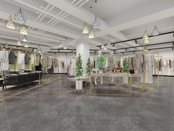 輕奢風格女裝服裝店設計案例