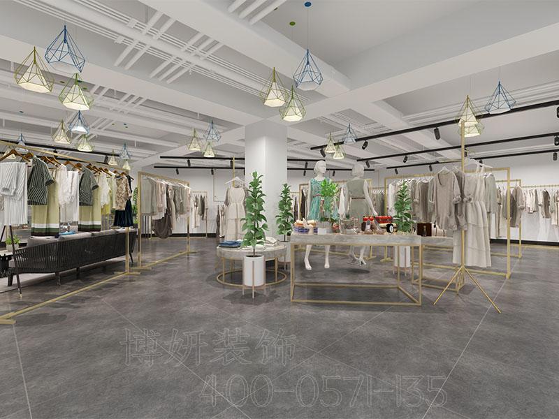 轻奢风格女装服装店设计案例