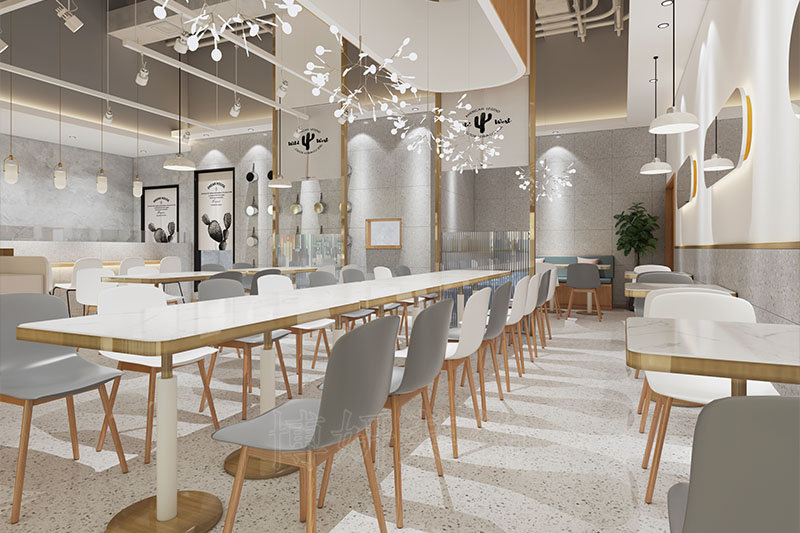 杭州韩式简餐厅装修设计—专业店铺装饰效果案例