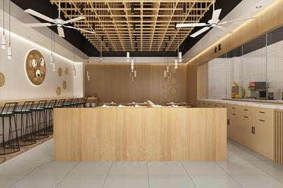 杭州饺子馆简餐厅装修设计—专业店铺装饰效果案例