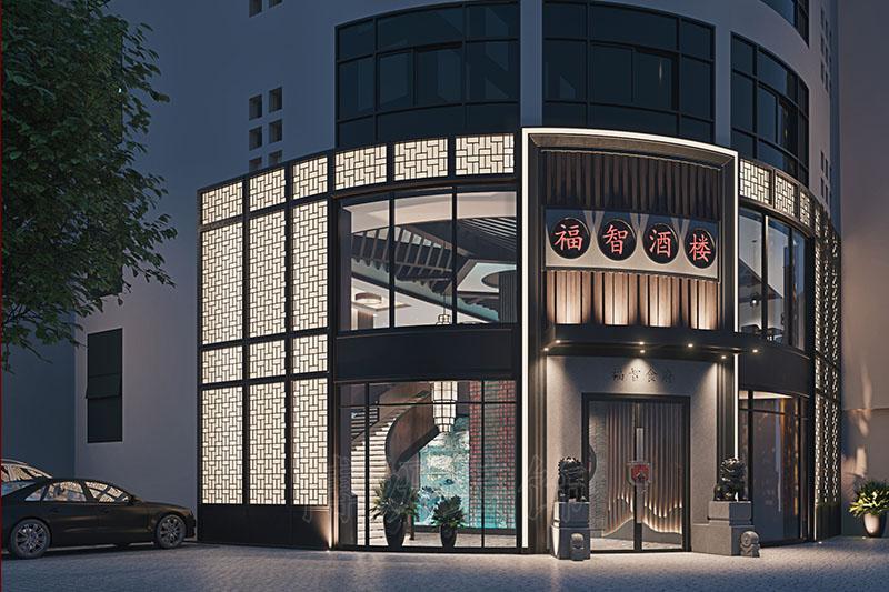 杭州福智酒楼餐厅装修设计-中式餐厅装修效果图
